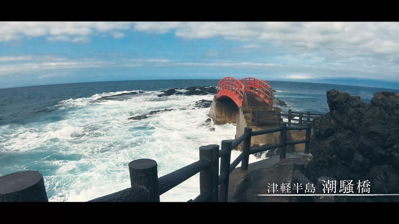 潮騒橋の橋付近と海