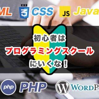 初心者はプログラミングスクールに行くな!勉強すべき言語は動画で学べ