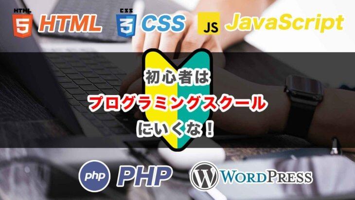 初心者はプログラミングスクールに行くな_その理由と学ぶべき言語