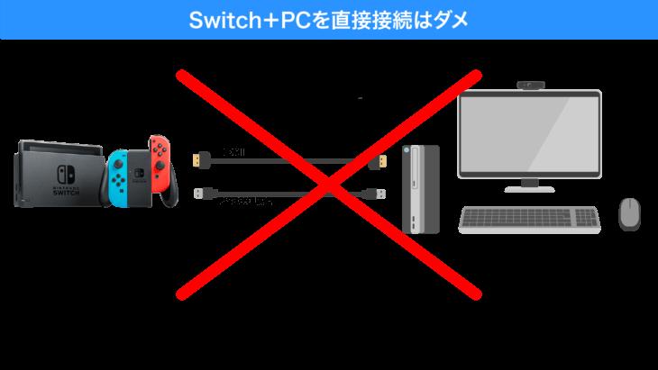 SwitchとPCの直接接続はNG